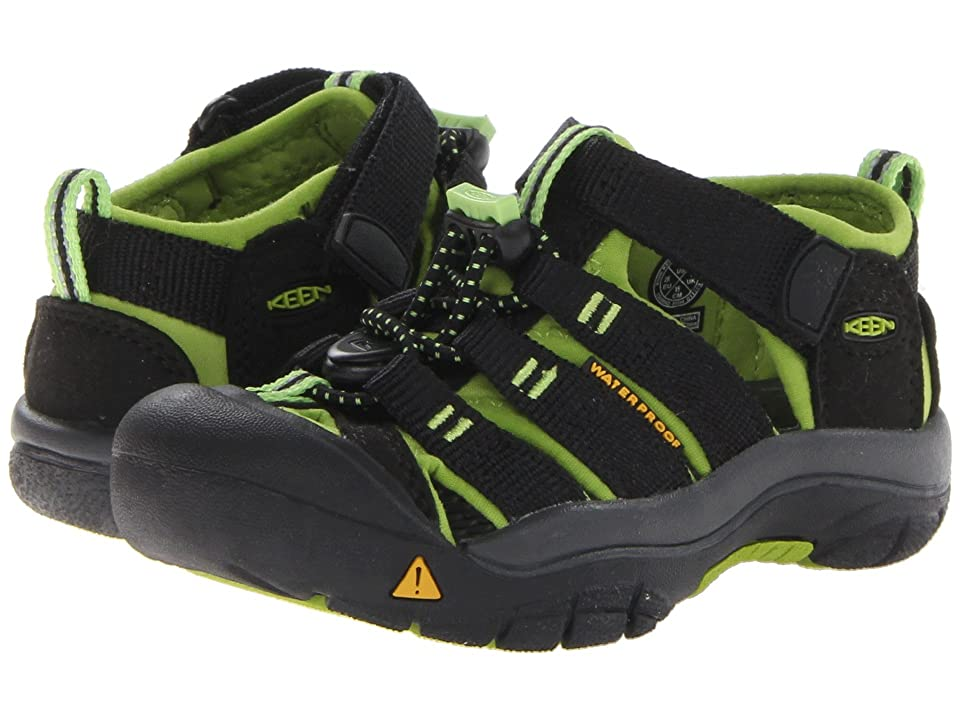 Keen Kids Newport H2 (Toddler/Little Kid) (Black/Lime Green) Boys Shoes