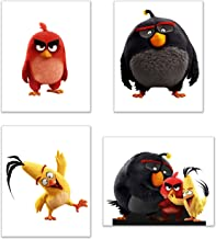 Angry Birds Wall Art Decor - Set of 4 Prints (8x10) - Poster Photos - Red, Chuck, Bomb