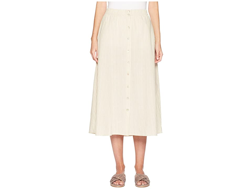 Eileen Fisher Button Front Skirt (Natural) Women