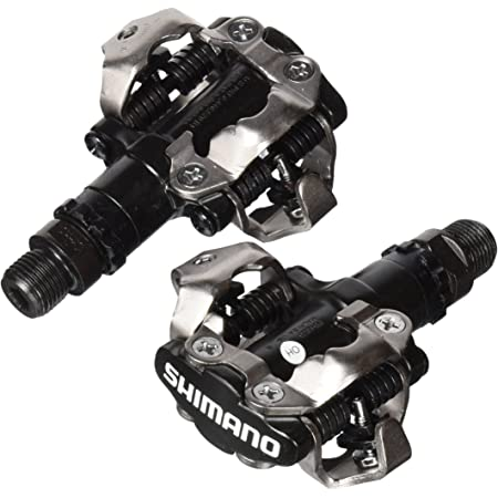 """Shimano PDM520 Clipless SPD Bicycle Cycling Pedals BLACK """"With Cleats"""""""