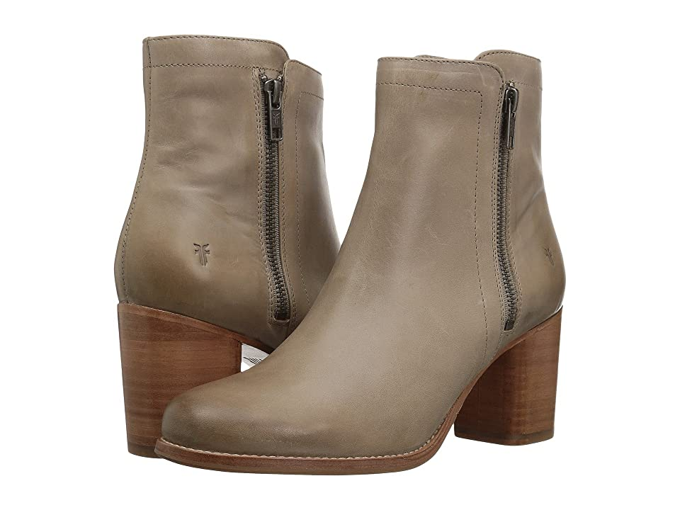 Frye Addie Double Zip (Grey Waxed Pull Up) Women