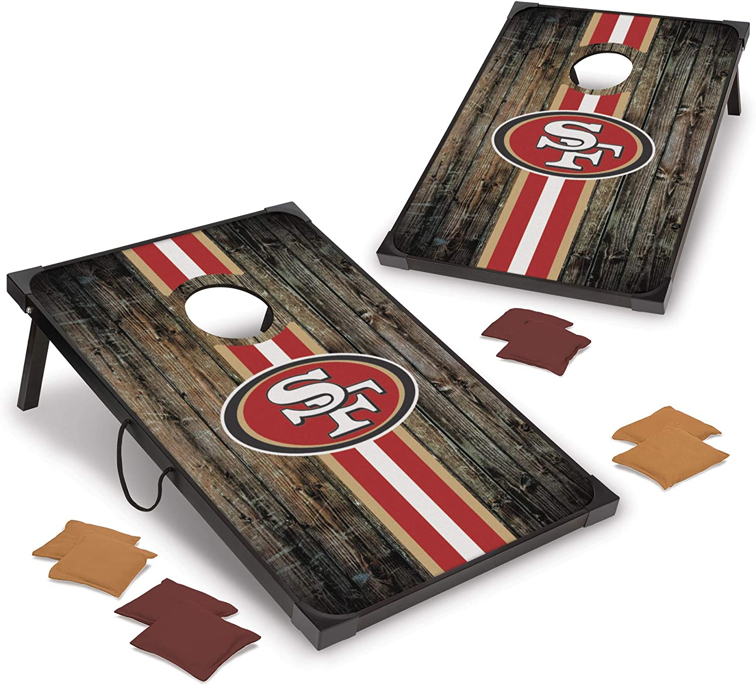 NFL Pro Football 2' x 3' MDF Wild Sp Wood Max 42% OFF Cornhole Deluxe Super-cheap Set by