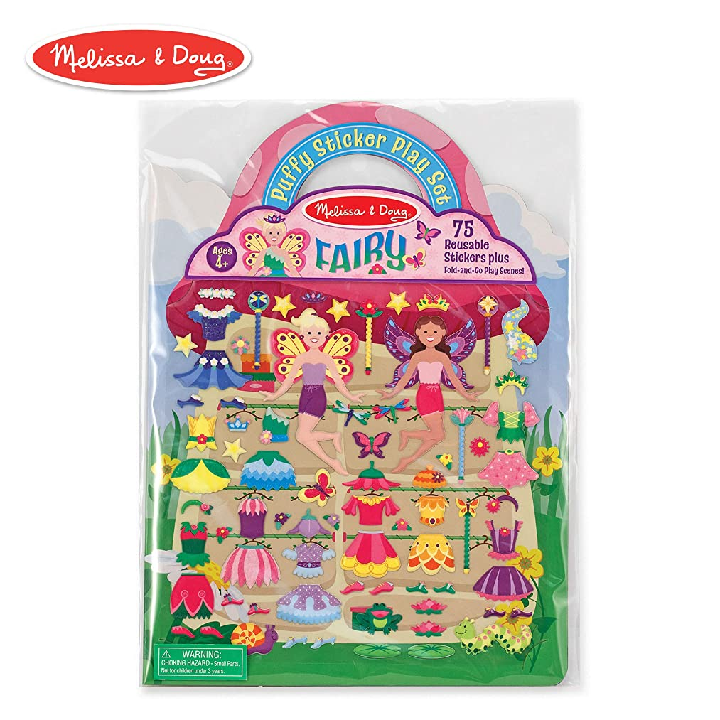 Melissa & Doug Puffy Sticker Play Set, Fairy (Reusable Activity Book,?75 Stickers, Great for Travel)