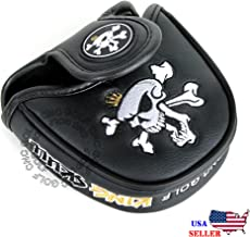 CNC GOLF King Skull Black Mallet Putter Cover Headcover for Scotty Cameron Taylormade Odyssey 2ball