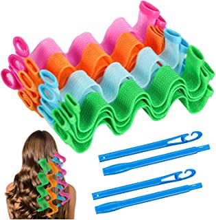 30 Pcs Hair Curlers Spiral Curls Heatless Wave Hair Curlers Styling Kit with 2 Pieces Styling Hooks for Most Kinds of Hair...