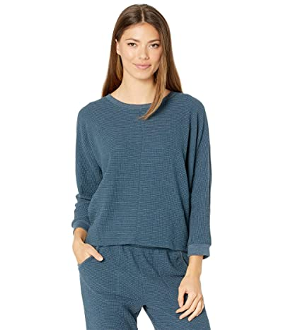 Lilla P Seamed Dolman Top in Textured Waffle