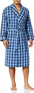 Nautica Men's Long Sleeve Lightweight Cotton Woven Robe Bathrobe