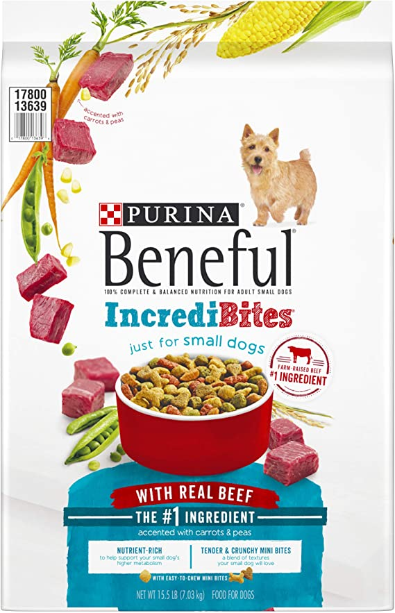 Purina Beneful Small Breed Dry Dog Food, IncrediBites With Real Beef   Amazon