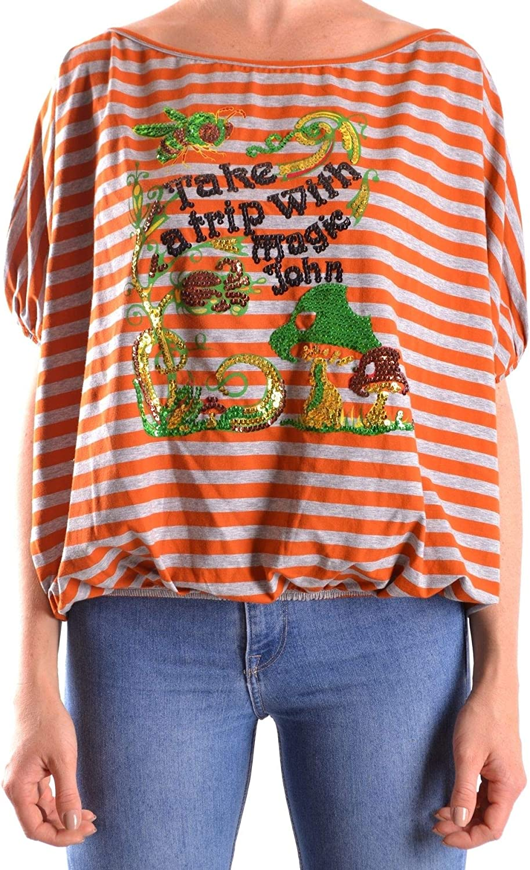 Galliano Women's MCBI24989 orange Cotton TShirt