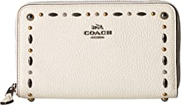 COACH - Medium Zip Around Wallet with Prairie Rivets