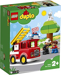 LEGO DUPLO Town Fire Truck 10901 Building Blocks, Vehicle Toy for Toddlers, 2019