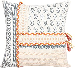Merrycolor Morocco Boho Tufted Decorative Pillow Covers 18X18 Inch - Woven Comfy Pillow Cases, Soft Farmhouse Cushion Case...
