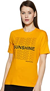 ABOF Women's Plain Regular fit T-Shirt