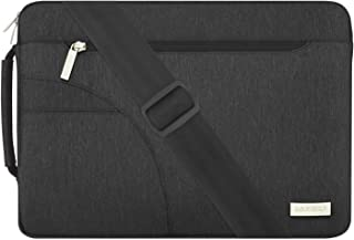 MOSISO Laptop Shoulder Bag Compatible with 2019 2018 MacBook Air 13 inch Retina Display A1932, 13 inch MacBook Pro A2159 A1989 A1706 A1708, Polyester Briefcase Sleeve with Side Handle, Black