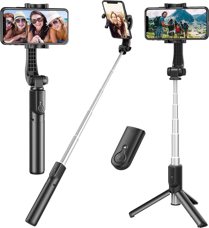 Selfie Stick Extendable Selfie Tripod with Detachable Bluetooth ...