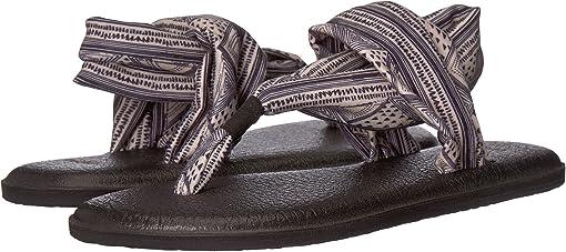 Tan/Black Geo Stripes