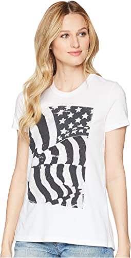 Flag Ruched Back Tee