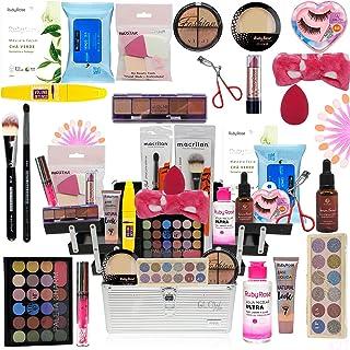 Maleta De Maquiagem Completa Com Kit Maquiagem Ruby Rose Top Base Clara