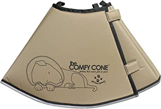 The Comfy Cone Pet Recovery Collar by All Four Paws, Medium Extra-Long, Tan,Medium-Extra Long 30cm