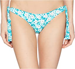 MICHAEL Michael Kors Carnations Side Tie Bikini Bottom w/ 3D Flower
