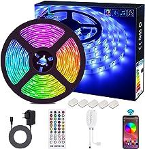 Bluetooth LED Strip, ALED LIGHT 5050 Waterdicht 16.4Ft 5M 150 LED Stripes Light Smart Phone Controlled RGB Light Hoses LED...