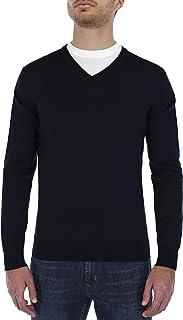 SCAPPINO Suéter Básico con Cuello En V Azul