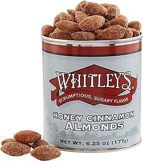 Whitley's Honey Cinnamon Almonds 6.25 Ounce Tin