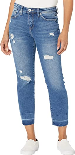 Carter Girlfriend Crosshatch Denim Jeans