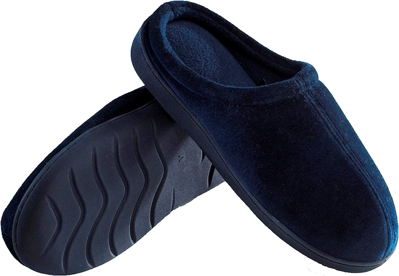 Deluxe Comfort MFSS-004-03 Memory Foam Slippers bluee