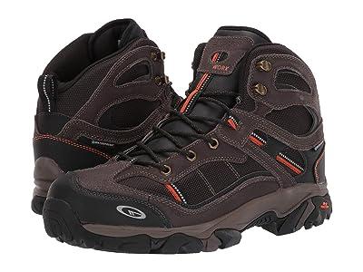 Hi-Tec Explorer Mid I WP Steel Toe (Chocolate/Burnt Orange) Men
