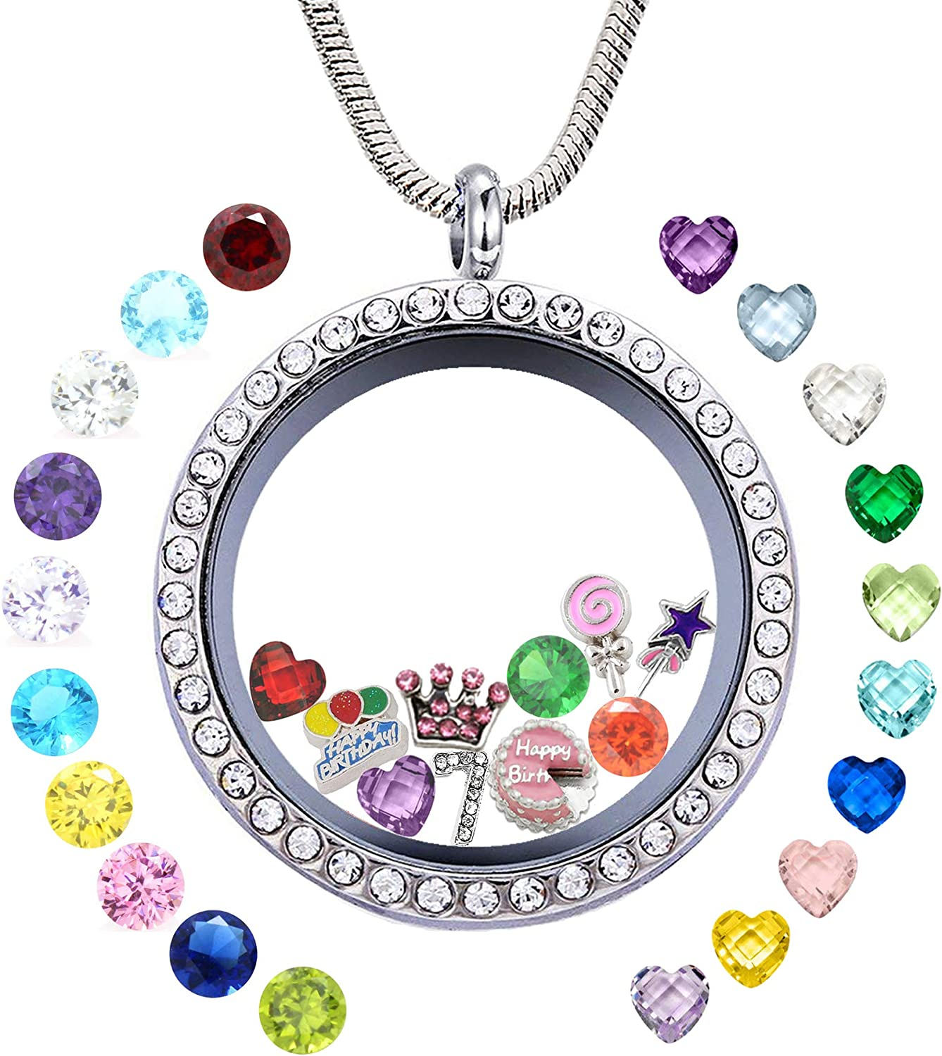 Year-end New popularity gift Birthday Gifts for Girl Her Floating Memory Locket Neckl Living
