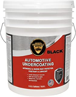 woolwax Undercoating Protection, Rust Inhibitor and Prevention, Anti Corrosion Multi Purpose Penetrant and Lubricant Lanolin Formula, 5 Gallon Black Color