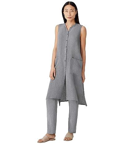 Eileen Fisher Mandarin Collar Long Shirt