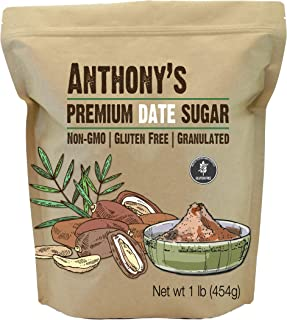Anthony's Date Sugar, 1lb, Gluten Free, Non GMO, Vegan, Granulated