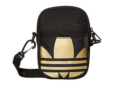 adidas SpaceTech Crossbody (Black/Metallic Gold) Bags