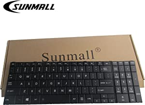SUNMALL Laptop Replacement Keyboard Compatible with Toshiba Satellite C50-B C50A-B C50D-B C55-B C50DT-B C50T-A R50-B Fit PN: PK1315H1A00 9Z.NBDSC.001 NSK-VA0SC 01 US Layout/Black (6 Months Warranty