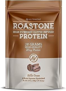 oastOne Coffee Protein Powder by NutraOne – Low Sugar, Coffee Infused Whey Protein Powder for Energy & Focus, 150mg Caffei...