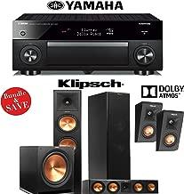 Yamaha RX-A1060BL AVENTAGE 7.2-Channel Dolby Atmos Network A/V Receiver + Klipsch RP-280FA + Klipsch RP-450CA + Klipsch RP-140SA + Klipsch R-115SW - 3.1.2 Dolby Atmos Home Theater System