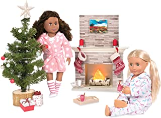 "Our Generation by Battat- Holiday Celebration Set- Doll, Clothes & Christmas Accessories for 18"" Dolls- Ages 3 Years & Up"