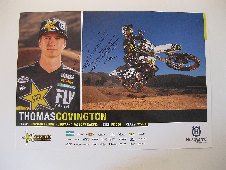 Thomas shop Covington supercross motocross 11 San Antonio Mall signed autographed