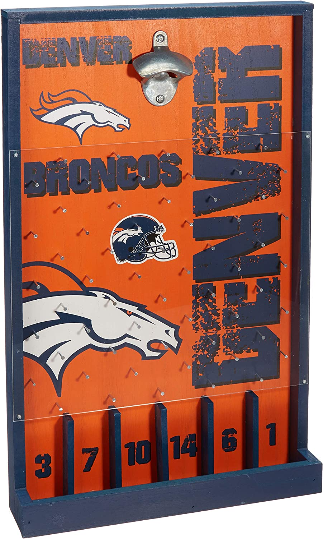 Denver 2021 model Broncos NFL Bottle Philadelphia Mall Opener Game Sign