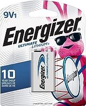 Energizer 9V Lithium Batteries, Ultimate Lithium 9 Volt Batteries (1 Battery Count)