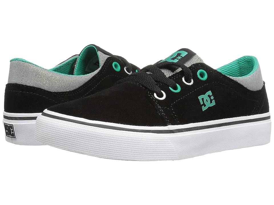 DC Kids Trase SE (Little Kid) (Black/Turquoise/White) Girls Shoes