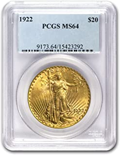 1922 $20 St. Gaudens Gold Double Eagle MS-64 PCGS G$20 MS-64 PCGS