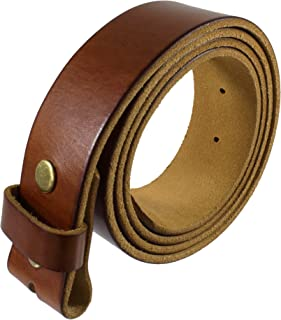 Genuine Full Grain Leather Belt Strap without Belt Buckle