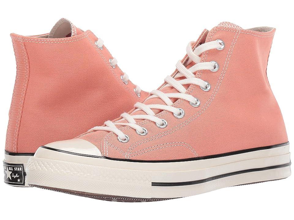 Converse Chuck Taylor(r) 70 Vintage Canvas Hi (Desert Peach/Black/Egret) Shoes
