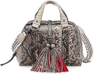 Tamaris TANJA Damen Handtasche, Handbag, Henkeltasche, 28x20x12 cm B x H x T, 2 Farben: braun comb. oder pepper comb.