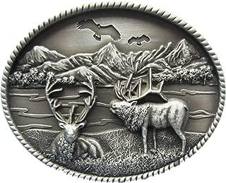 New Vintage Original Deer Wild Life Western Oval Belt Buckle also US Stock
