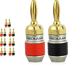 Mediabridge Banana Plugs - Corrosion-Resistant 24K Gold-Plated Connectors - 7 Pair/14 Banana Plugs (Part# SPC-BP2-7)