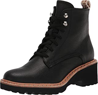 Dolce Vita Women's HINTO Ankle Boot, Black Leather, 8.5